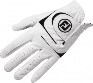 white left handed golf glove