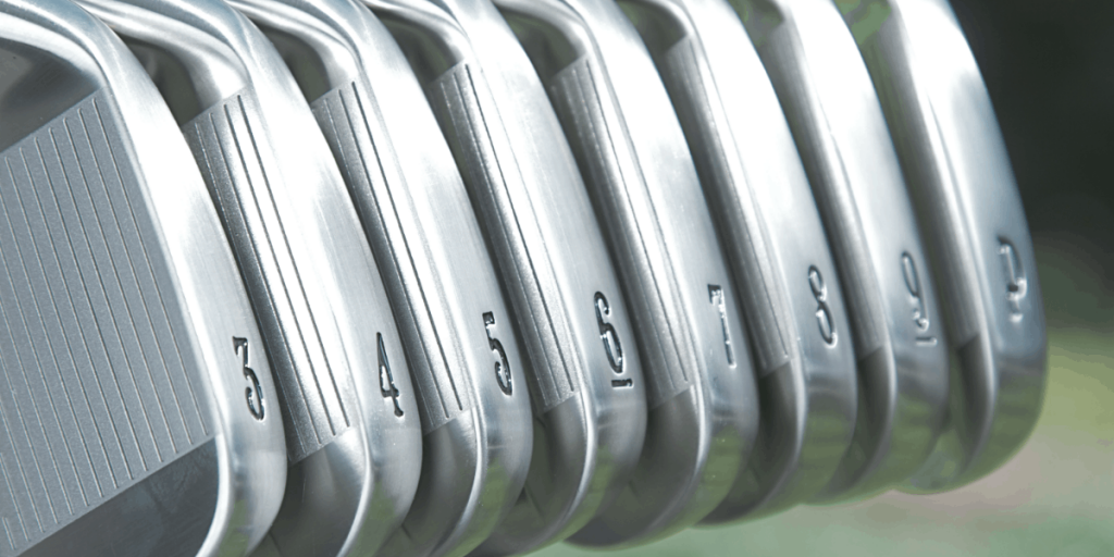 photo of a set of golf irons